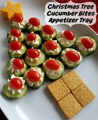 cucumber bites tree appetizer tray