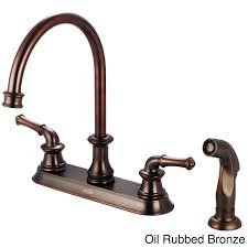kitchen faucets oil rubbed bronze finish pioneer del mar 2dm301 two handle kitchen faucet oil rubbed