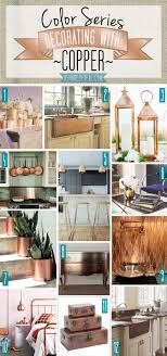 copper decor accents color series decorating with copper brass metal teal and decorating