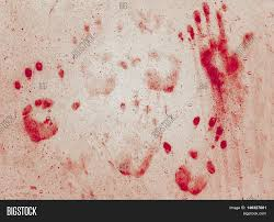 grunge background with a print of a bloody hands ideas for
