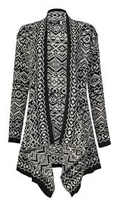tribal sweater amazon com fashionmark s tribal knitted cardigan clothing