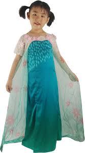 Queen Elsa Halloween Costume Disney Movie Frozen Elsa Cosplay Costume Dress Prom Dress Green