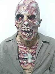 Zombie Mask Amazon Com Forum Novelties Zombie Mask With Hat Sarge Toys U0026 Games