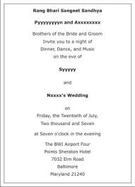 ceremony card wording wedding sangeet ceremony invitation wordings sangeet ceremony