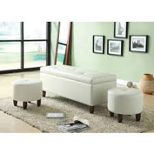 Tufted Storage Ottoman Ivory Tufted Storage Ottoman Bench With Nailhead