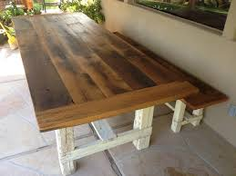 farm tables with benches reclaimed farmhouse tables home design ideas and pictures