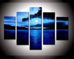 blue and white painting amazon com santin art 100 hand painted free shipping wood framed