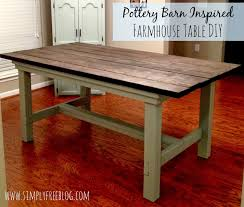 Pottery Barn Inspired Furniture Pottery Barn Inspired Farmhouse Table Diy Simply Elliott