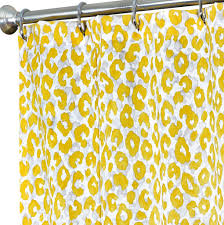 Gray And Yellow Chevron Shower Curtain by Fabric Shower Curtains Falling Leaves Extra Long Shower Curtain