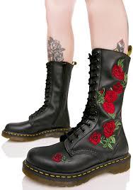 dr martens vonda embroidered 14 eye boots dolls kill