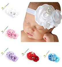 baby girl hair accessories roewell baby hair bows flower 5 pack