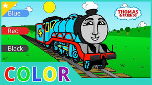 learn colors with trains thomas the tank engine coloring page