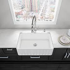 cheap ceramic kitchen sinks vigo 33 inch farmhouse apron single bowl matte stone kitchen sink