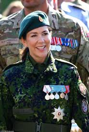 Welcome Home Military Decorations Crown Princess Mary Proudly Displays Her Five Medals During Danish