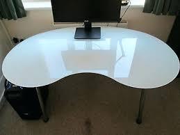 kidney bean shaped table bean shaped desk glass kidney shaped desk in kidney shaped office