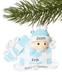 treasured ornaments pink baby in present personalized