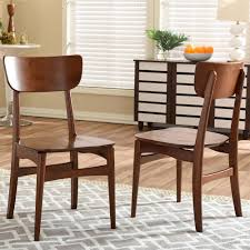 Brown Leather Dining Chairs With Nailheads Home Decorators Collection Becca Brown Linen And Leather Dining