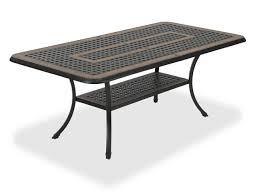Aluminum Coffee Table Lexington 60 X 30