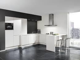 cuisine blanche sol noir photos de design d intérieur et
