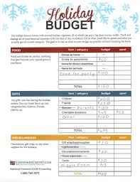 holiday budgeting worksheet talking cents