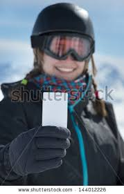 winter sport blank lift pass stock photo 144012226