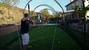 backyard batting cage youtube