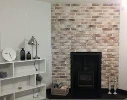 brick chimney breast easy fit brick slips uk feature walls