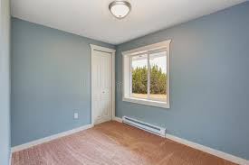 light blue laminate flooring small light blue bedroom in empty house stock photo image of
