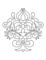 damask pattern use the printable outline for crafts creating