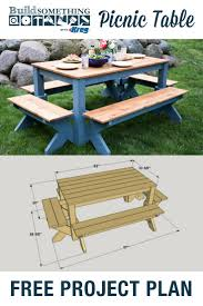 Free Picnic Table Plans 8 Foot by Best 25 Outdoor Picnic Tables Ideas On Pinterest Folding Picnic