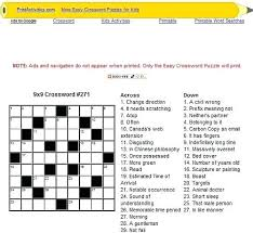 printable easy crossword puzzles with solutions printable easy printable crossword puzzles word calendar 2018