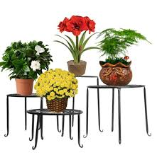 metal 4 in 1 potted plant stand flower pot rack floor indoor
