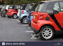 small cars smart cars in parking spaces dedicated to small cars northern new