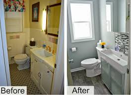 bathroom remodel idea small bathroom remodels pictures before and after intended for