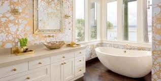 wallpaper ideas for bathrooms 35 best removable wallpaper ideas stylish peel and stick temporary