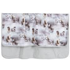australian shepherd e cavalli grey pony baby blanket 85cm childrensalon
