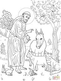 st francis of assisi coloring page free printable coloring pages