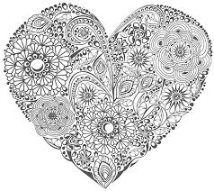 coloring valentine u0027s heart flowers 1