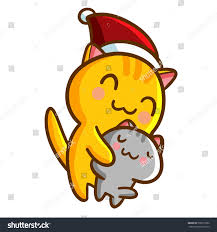 funny cute cats hug each other stock vector 536577862 shutterstock