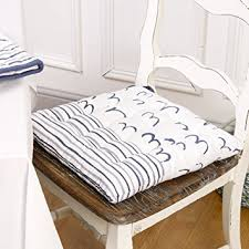 Nautical Riviera Birds In Flight Cotton Seat Pad AF Great - Dining room chair seat cushions