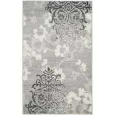 Damask Area Rug Black And White Silver Contemporary Rugs U0026 Area Rugs For Less Overstock Com
