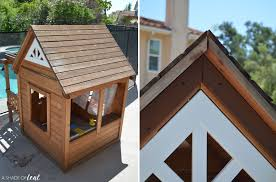 gap roofing playhouse update how to add a roof