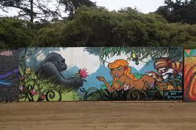 live painted murals at san francisco outside lands street art sf n8 van dyke deb and sam flores street art mural at outside lands festival in