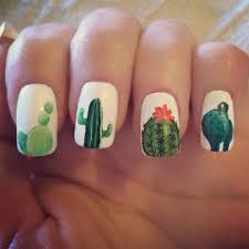 love these cactus nails u2026 pinteres u2026