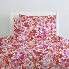 pink and red floral duvet cover carousel designs