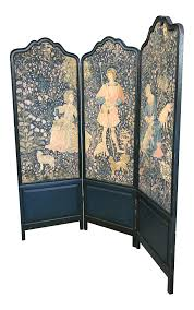 Antique Room Divider Vintage U0026 Used Shabby Chic Screens And Room Dividers Chairish