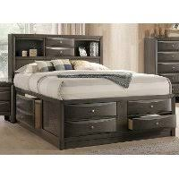 gray contemporary queen size storage bed emily rc willey