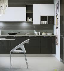 Kitchen Cabinets With Open Shelves Kitchen Design White Stylish Acrylic Barstool Elegant White And