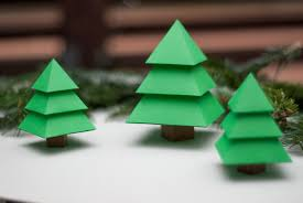christmas trees by katokami diy papercraft kits on behance