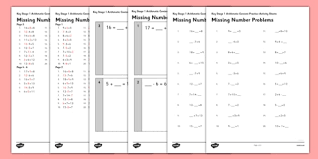 ks1 arithmetic content practice missing number calculations